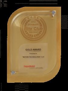 Elite Club 2012 - золотая медаль
